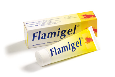 Flaminal Hydro Enzym Alginogel moderately exuding wounds Flaminal Forte Enzym Alginogel heavily exuding wounds